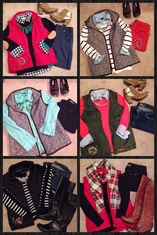 Vests, stripes, plaid, elbow patches