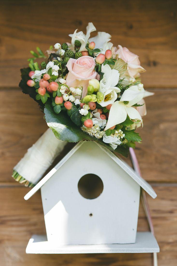 Blush wedding bouquet | Hotel Bormio La Genzianella