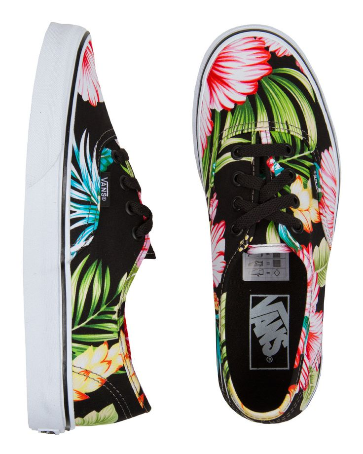 Feel the Aloha down to your toes! // Vans Authentic Hawaiian Floral Womens Shoes. Have them and love them