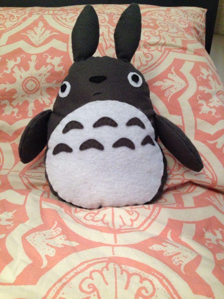 Homemade Totoro - hand sewn felt stuffed toy :)