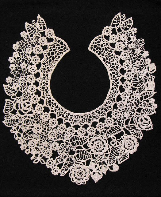 Lace Crochet Collar by Miroslava Gorokhovich