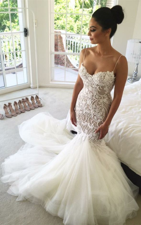 sexy mermaid long white wedding dress, 2017 fashion long wedding dress