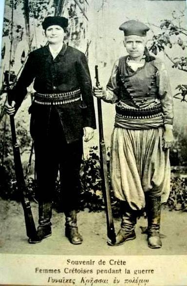 Ηρωϊκή γυναικεία μορφή η Αντωνούσα Καστανάκη απο την Ρόκκα Κισσάμου αλλά και η ΄Αννα Κοντογιάννη ή Σπανονικόλα, που είχε καταγωγή Ηρακλειώτικη – από την ξακουσμένη οικογένεια των Καλλεργών.