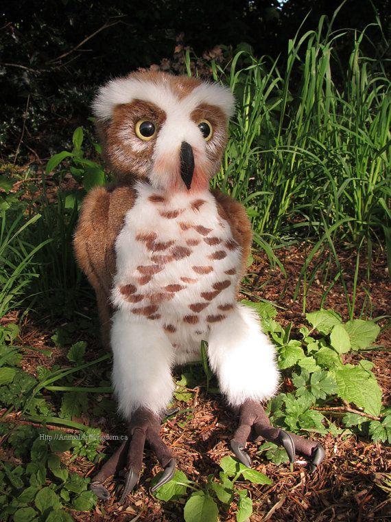 Burrowing Spotted Owl Plush Stuffed Animal Toy by AnimalArtKingdom