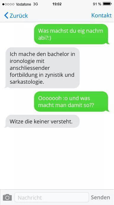 SMS VON GESTERN NACHT.de