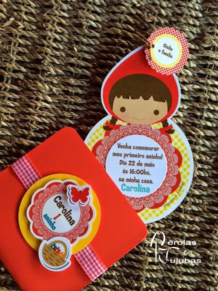Pérolas e Jujubas: Festa infantil personalizada tema Chapeuzinho Vermelho