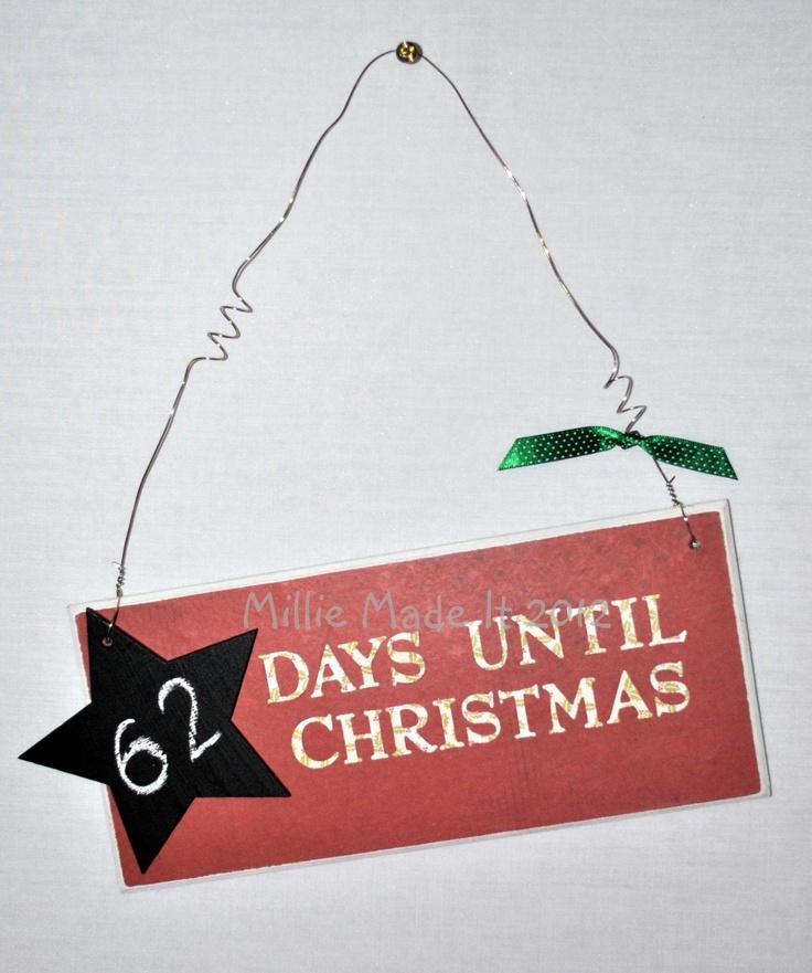 Christmas countdown  www.facebook.com/milliemadeit