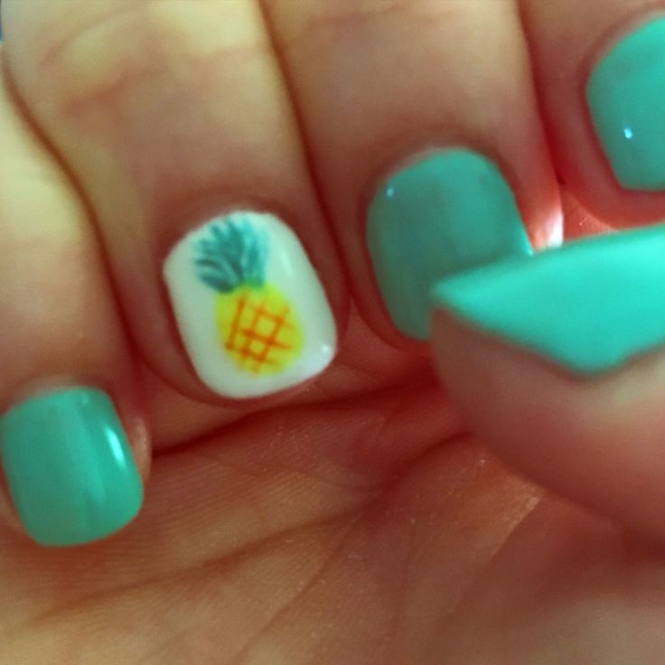 how cute is my pineapple no chip manicure?! ready for vacation! cabo san - 9 Best Pineapple Images On Pinterest Pineapple Nail Design