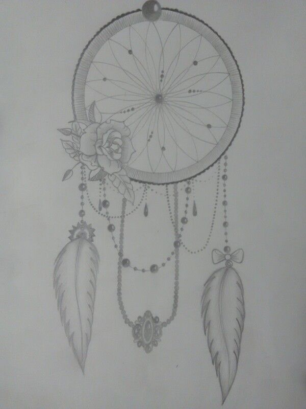 Dreamcatcher with rose and beads