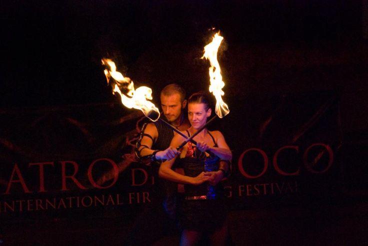 Anta Agni firedancers on festival Teatro Del Fuoco - FIRE Show. http://antaagni.com/fire-show/