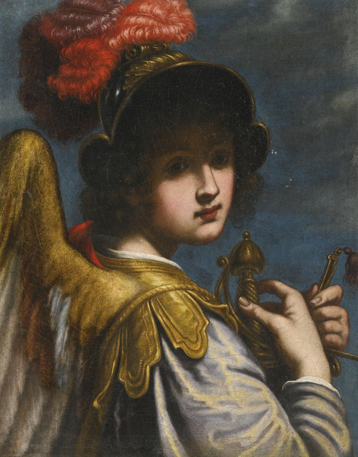 Matteo Rosselli FLORENCE 1578 - 1650 THE ARCHANGEL MICHAEL oil on canvas 64.5 by 51.5 cm.; 25 3/8  by 20 1/4  in.:
