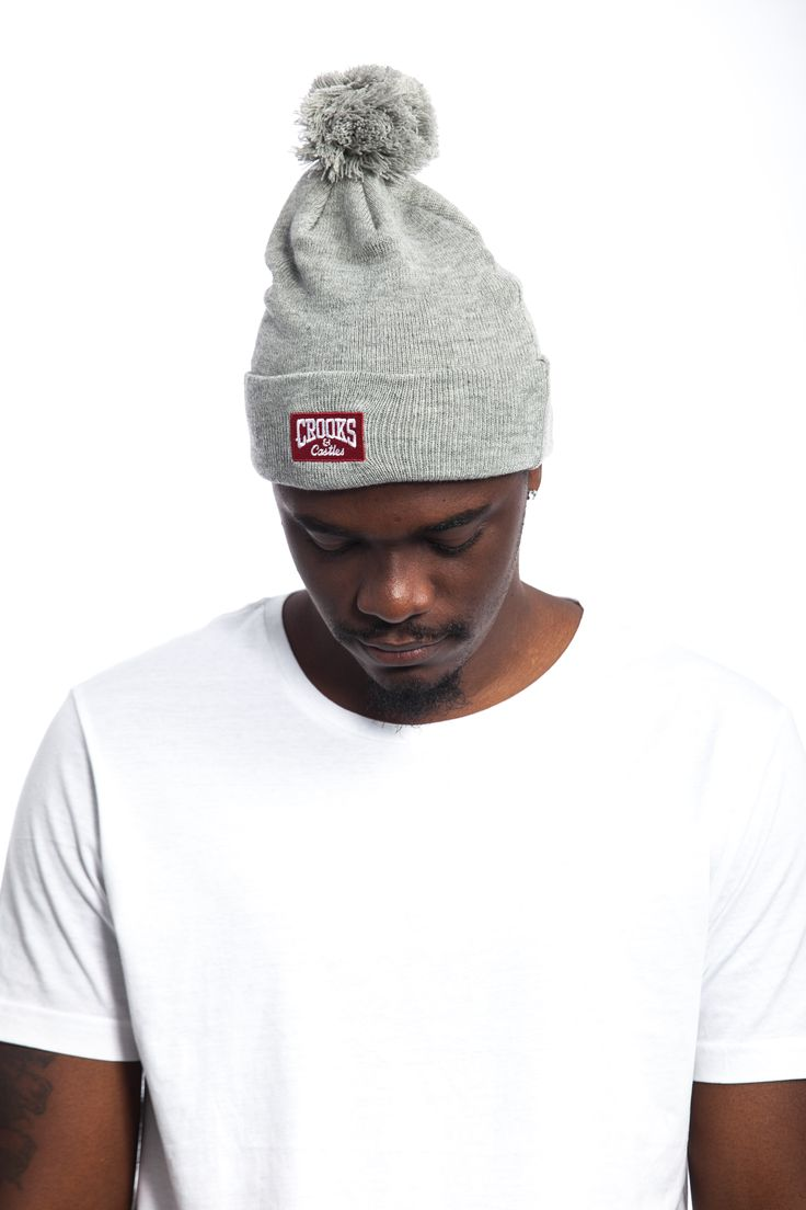 Crooks And Castles Core Logo Grey Beanie