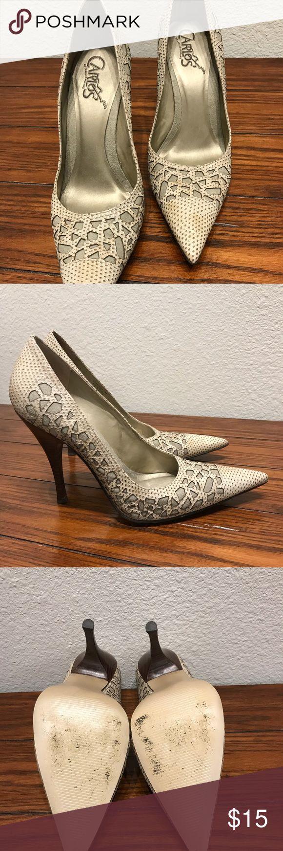 "Carlos Santana heels Used, good condition Carlos Santana 4"" heel Carlos Santana Shoes Heels"