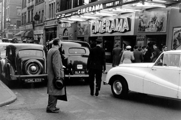 The Cinerama cinema in Soho's Old Comton Street. Original Publication Picture Post 1955