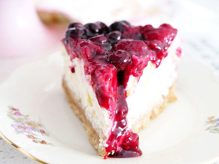 My Kitchen Stories - Väldigt bärig vaniljcheesecake