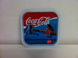 decoración vintage, antiguitats-baraturantic: bandeja coca cola vintage