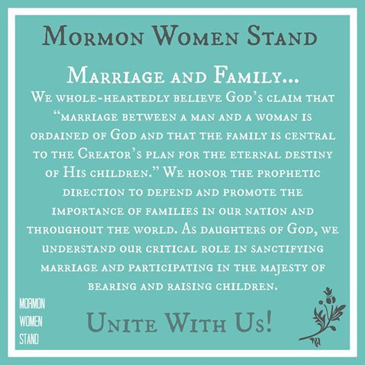 We Believe In The Sanctity Of Marriage And Family. Mormon