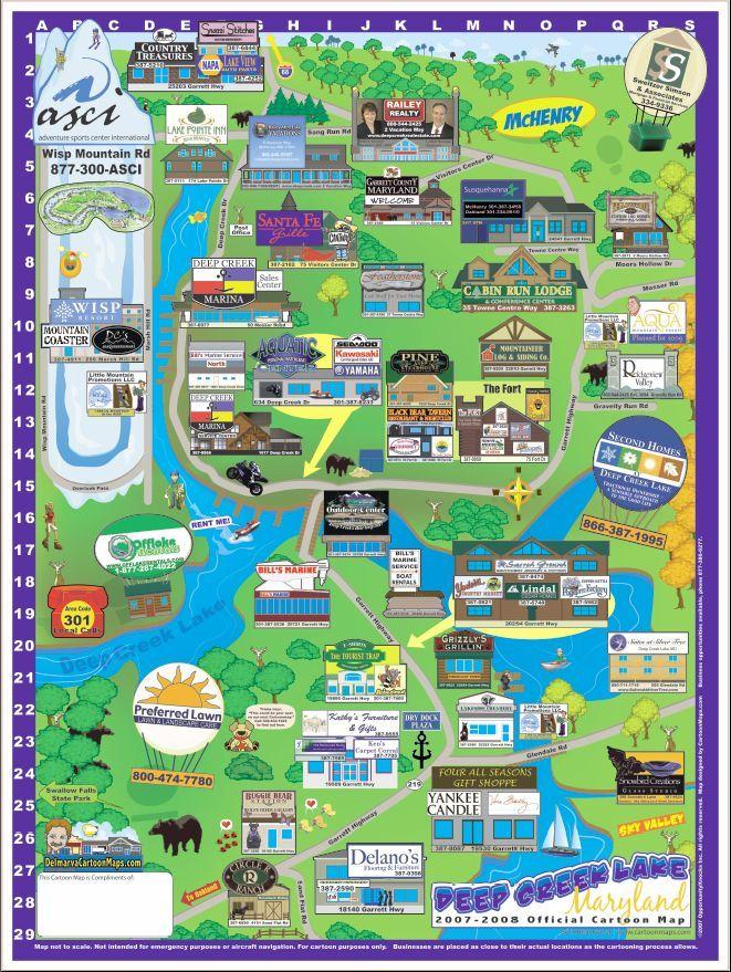 Deep Creek Lake Maryland Map - McHenry Maryland • mappery