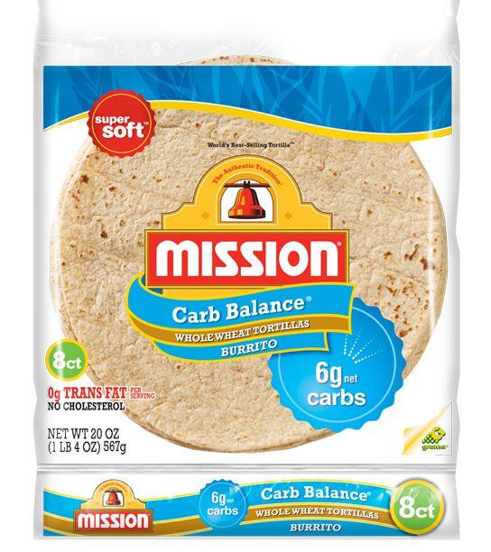Mission Burrito Carb Balance Whole Wheat 8ct