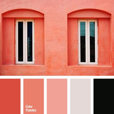 black and red, bright colors, color of flamingo, color of flamingo feathers, color of orange, color of orange tree, color of sicilian orange, color palettes for decor, color solution, colors for decor, contrasting combination, coral, coral and pink, monochrome color palette.