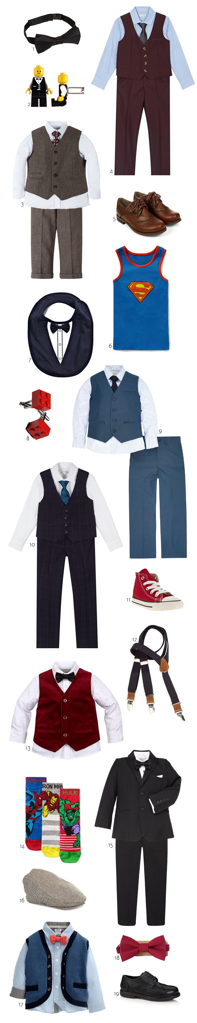 The cutest suits and accessories for winter page boys...
