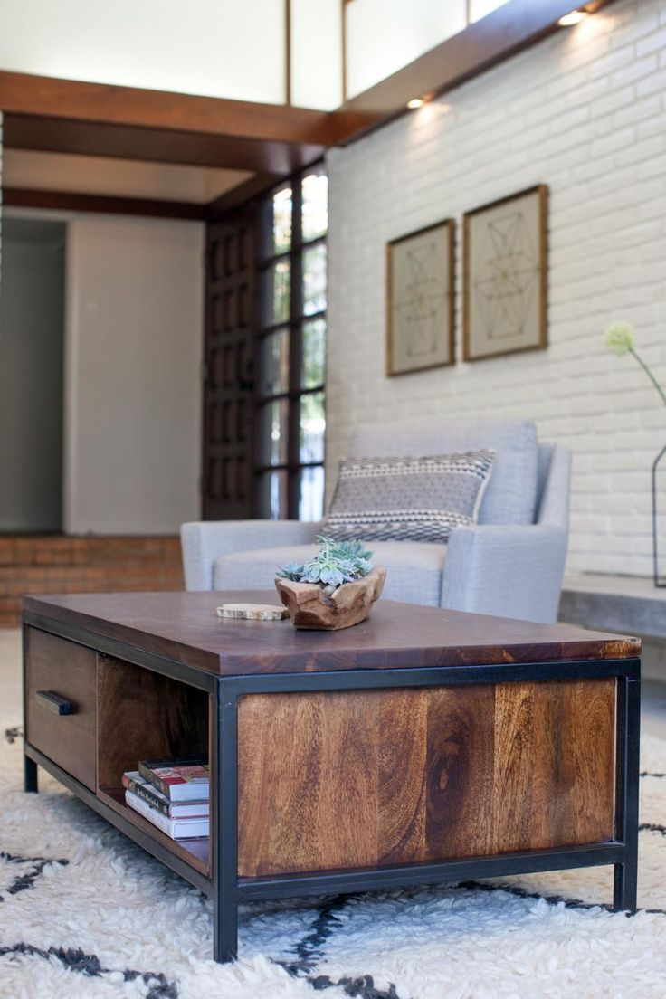 Harkavy furniture focuses on modern pieces made of wood and steel - A Fixer Upper Take On Midcentury Modern Modern Pictureswooden Coffee Tables Metal