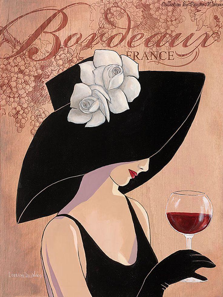 Картинки женщина в шляпе рисунок, картинка про