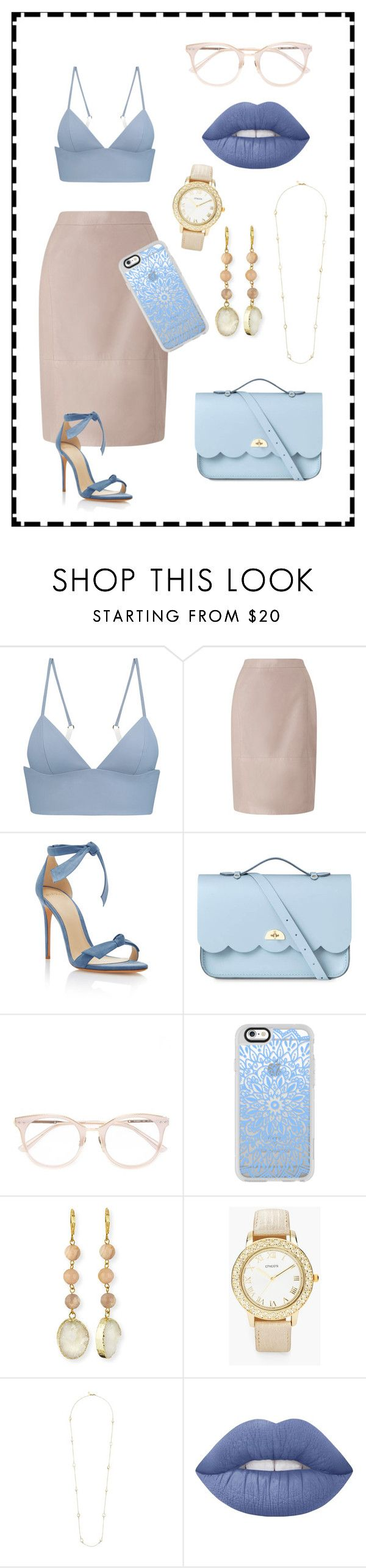 """""""💙💎✨"""" by blessedandrea ❤ liked on Polyvore featuring beauty, T By Alexander Wang, Jacques Vert, Alexandre Birman, The Cambridge Satchel Company, Casetify, Panacea, Chico's, Kate Spade and Lime Crime"""