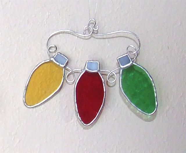 Stained glass christmas lights