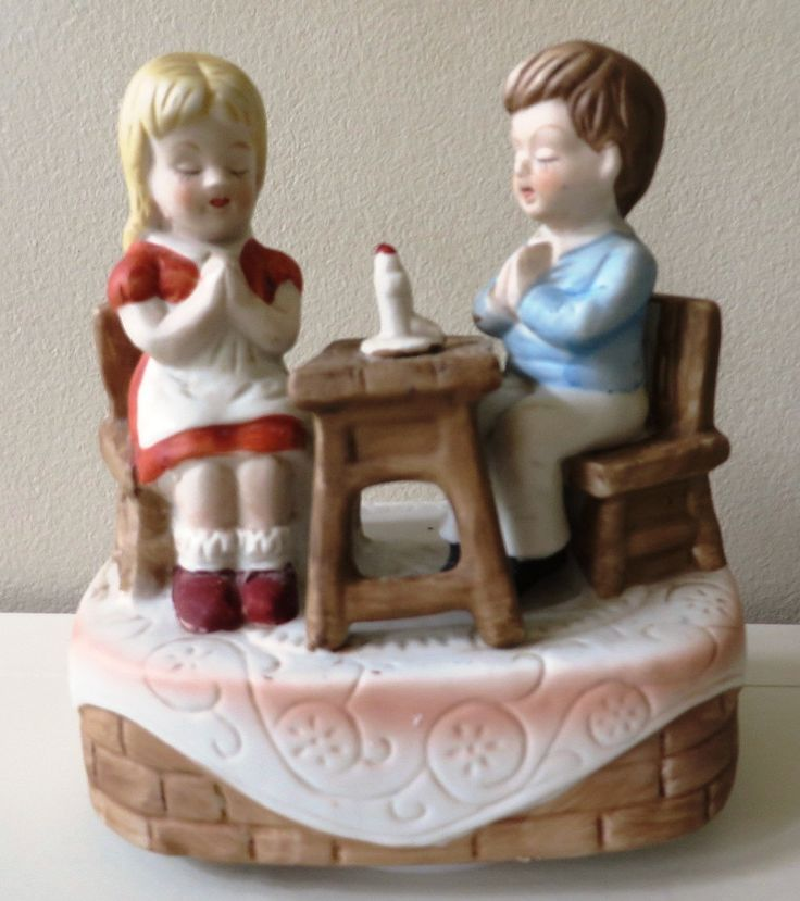 "VINTAGE made by "" price imports"" company Musical Figurine Boy Girl Praying Candlelight Music Box by Mayuls on Etsy"