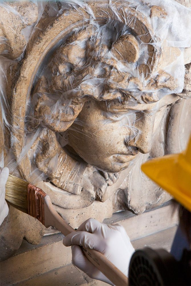 Restauration Galleria Vittorio Emanuele II - Milan, Italy.