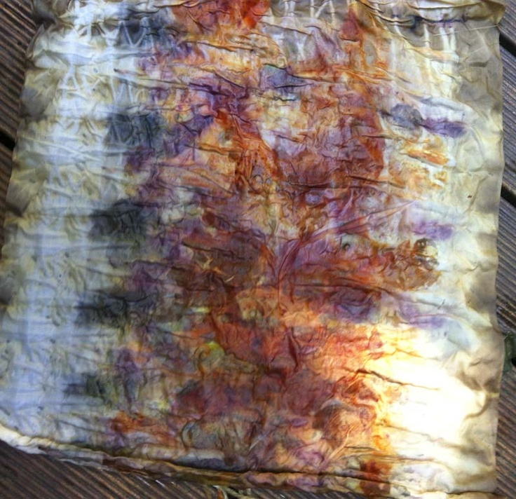 Eco-dyeing - you can get beautiful colours using for example purple cabbage - lots of ideas on this blog