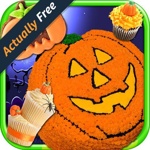 halloween cake maker make bake kids candy dessert kitchen cooking food restaurant free game - Halloween Cake Games