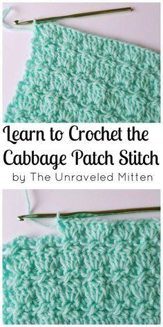 Cabbage Patch Stitch | Free Crochet Tutorial | The Unraveled Mitten | Crochet Stitches | Textured | Unique | Step by Step #crochet #crochetstitch #crochettutorial