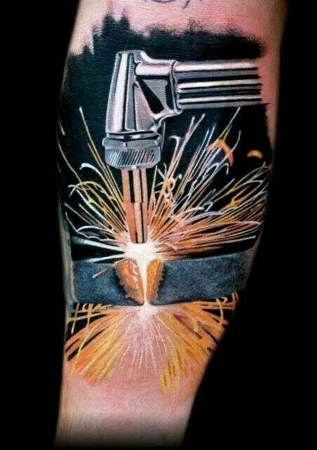 nice cutting torch tattoo welding torching and smithing