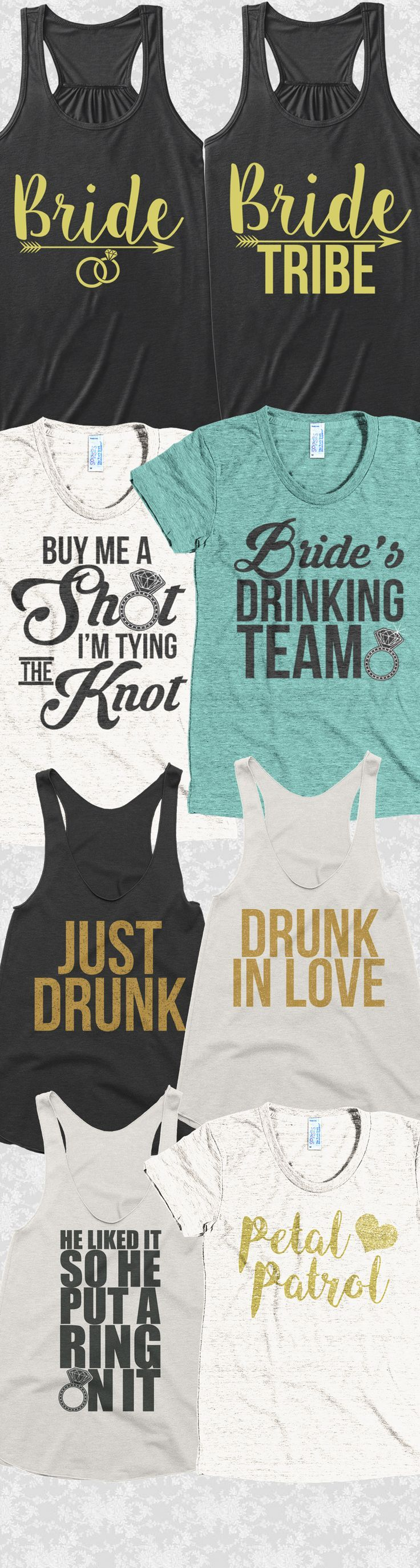 Wedding season is here! Check out these awesome Bachelorette party tees and tank...