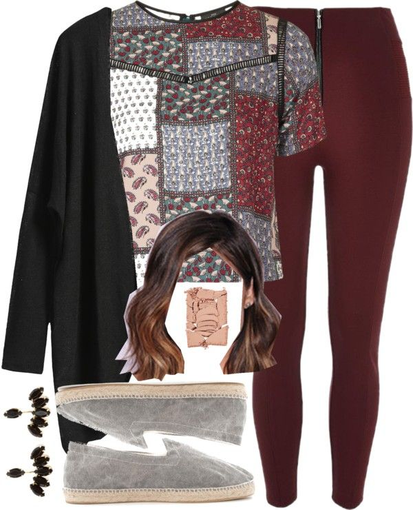 Aria Montgomery inspired comfortable look by liarsstyle featuring gemstone earrings