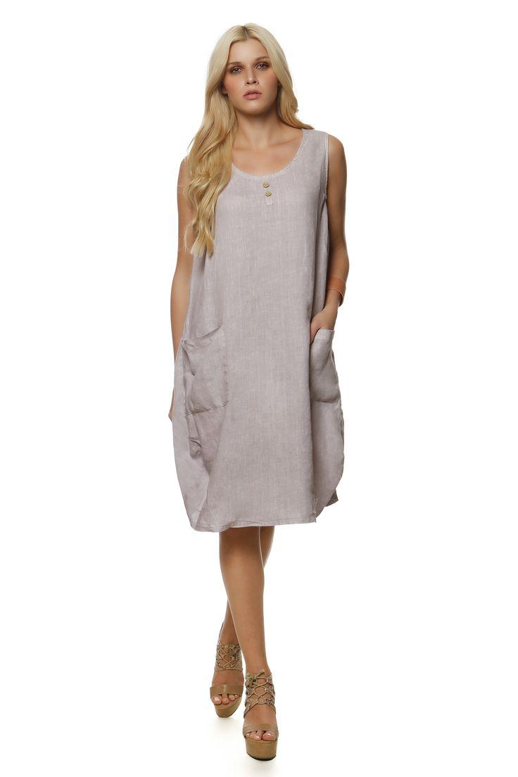 Linen Dress 1309 http://eshop.hariscotton.gr/
