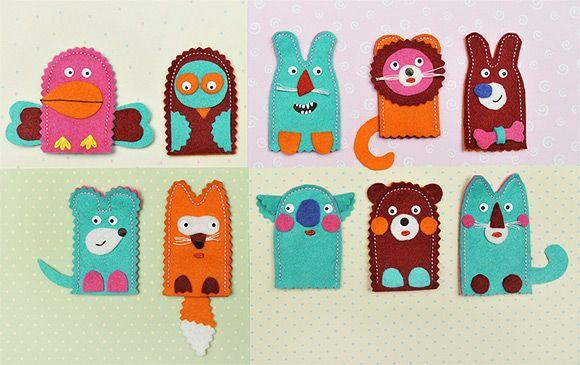 simple finger puppets for little ones to make toys for. Black Bedroom Furniture Sets. Home Design Ideas
