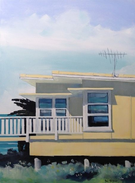 Yellow Shack  Acrylic on Canvas 75x100  SOLD