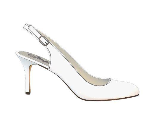 block heel white slingback shoes   Sling back, white soft leather ...