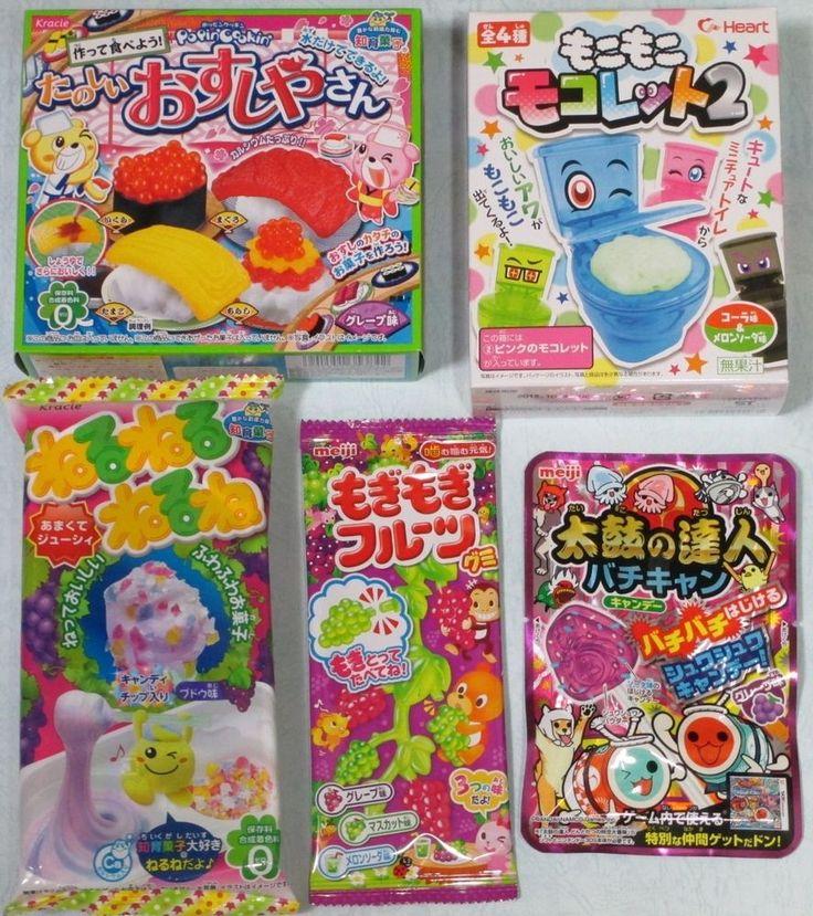 5 PCS SET Popin Cookin Japanese Candy DIY Kits Kracie Heart Meiji ✿ Fun to Make! #KracieHeartMeiji