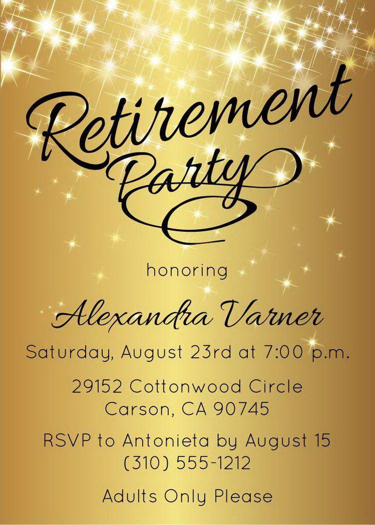 9 best Retirement Invitations images on Pinterest Retirement - retirement party flyer template