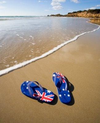 Beach life. We don't call them flip flops we call them thongs.Australia.