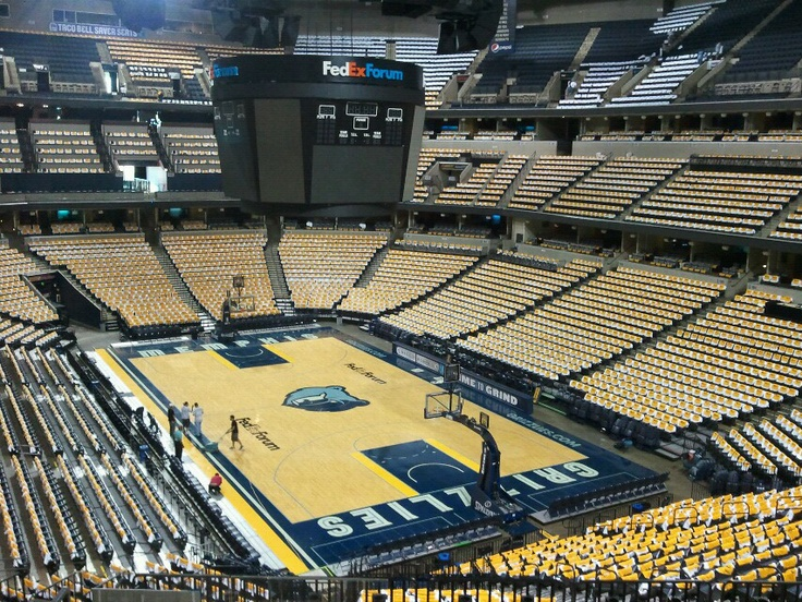 FedEx Forum, home to the Memphis Grizzlies, decked out with our White Tees and Yellow Towels