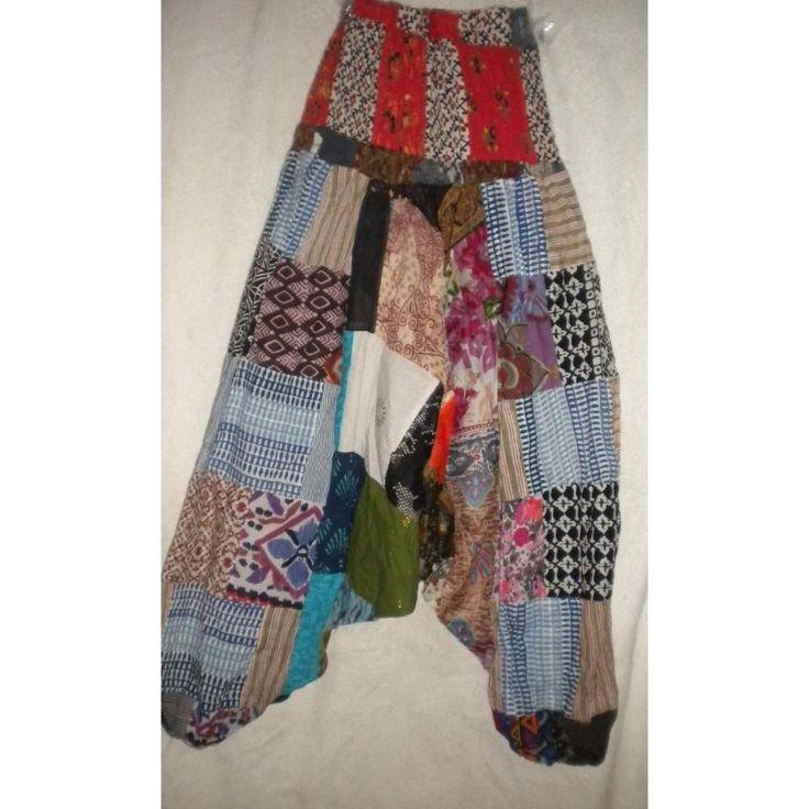 Pantalones Hindues Bombachos, Tiro Bajo