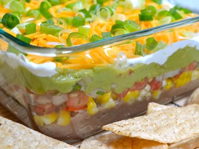 Classic seven layer bean dip | Food | Pinterest