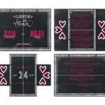 trouwkaart turningcard chalk krijtbord