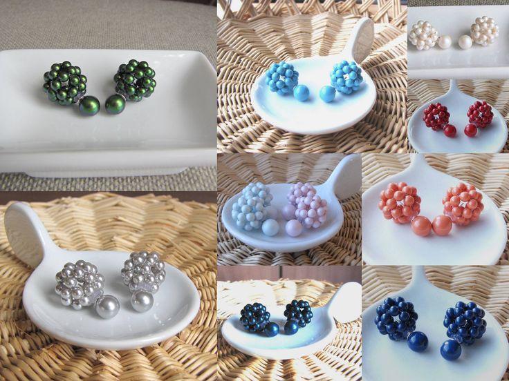Double sided earrings www.creationsclaudene.etsy.com