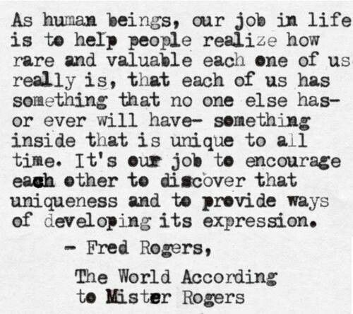 Mr. Rogers on uniqueness  #mr_rogers #quotes #value
